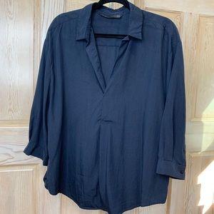 Dark Blue Zara Blouse